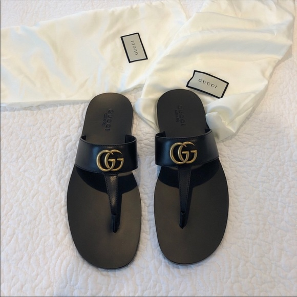 ac67a7817 Unisex Gucci black sandals NWT